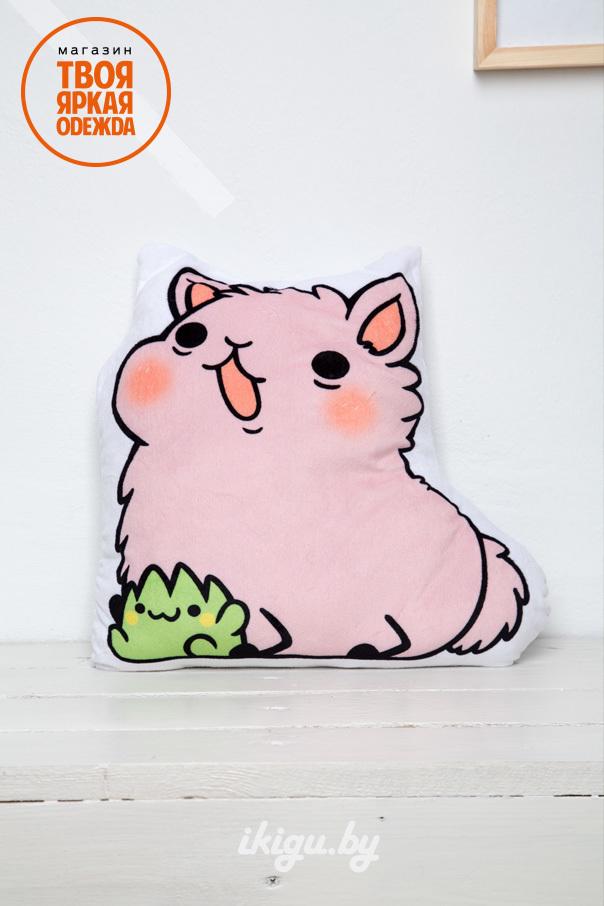 """Мягкие игрушки и подушки Подушка розовая """"Милый Альпака"""" cat_1.jpg"""