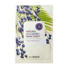 Saem Natural Acai Berry Mask Sheet - Маска тканевая с экстрактом ягод асаи