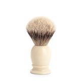 Помазок MUEHLE CLASSIC, барсучий ворс высшей категории Silvertip, смола, цвет слоновой кости, размер S (099 K 257)