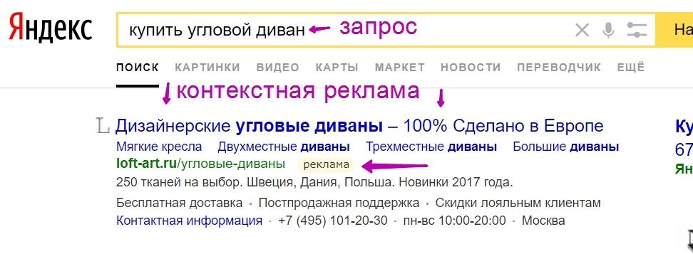Настройка рекламы в яндекс директ что это