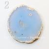 Подвеска Срез Агата, цвет - опалово-голубой (№2 (69х61 мм))