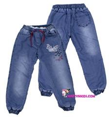 1809 джинсы теплые бабочка