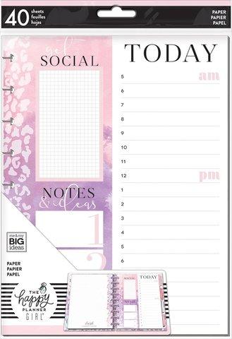 Дополнительный блок листов для ежедневника Happy Planner Classic -Glam Girl Social