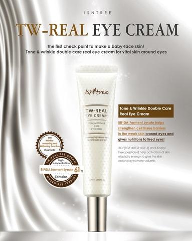 Крем для кожи вокруг глаз с бифидокомплексом, 30 мл / Isntree TW-Real Eye Cream