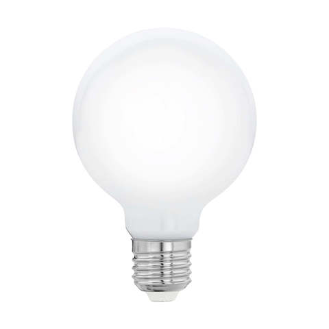 """Лампа  Eglo филаментная """"Милки"""" опал. стекло LM LED E27 G80 2700K 11766"""