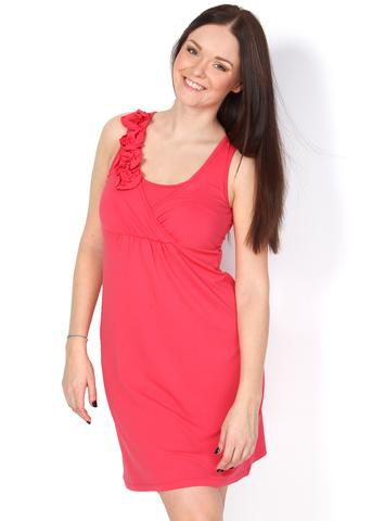 Платье ПВ02 коралл для беременных и кормящих