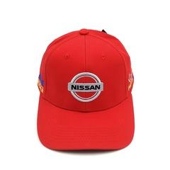 Кепка с вышитым логотипом Ниссан (Кепка Nissan) красная