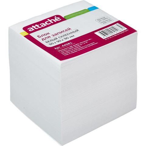 Блок-кубик ATTACHE на склейке 9х9х9 белый блок