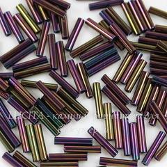 0085 Бисер японский TOHO Стеклярус (Bugle), #3, металлик пурпурный ирис