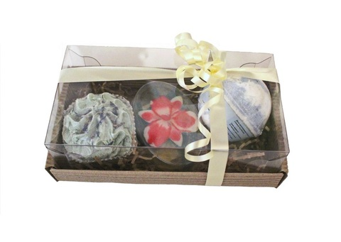 Набор подарочный Наслаждение (гейзер d6 см (в ассортименте), твердая пена для ванн (в ассортименте),  мыльное ассорти (в ассортименте)/TM ChocoLatte