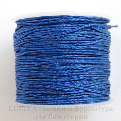 Нейлоновый шнур 1 мм (цвет - синий) 35 м ()