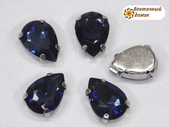 Камень капля в цапах 10*14 мм темно-синий
