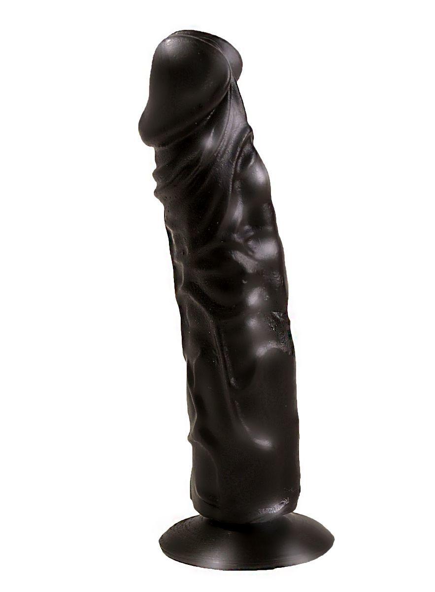 Классические дилдо: Чёрный фаллоимитатор без мошонки - 19,5 см.