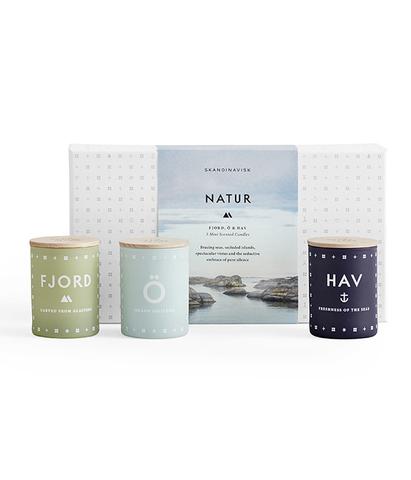 Набор из 3 ароматических свечей NATUR, Skandinavisk