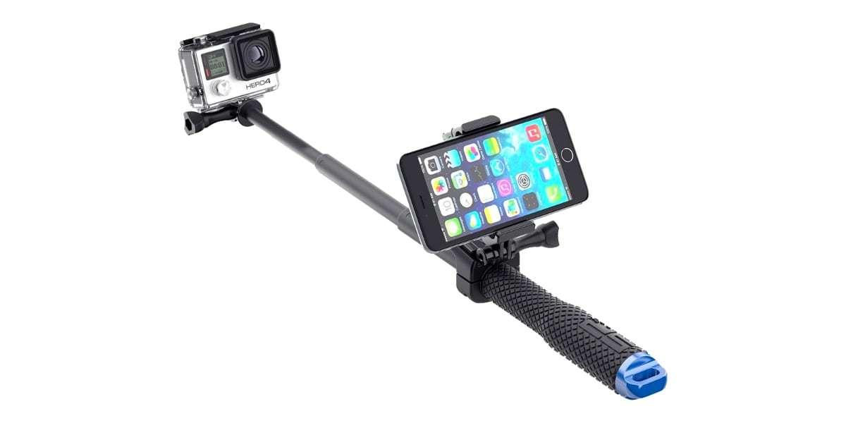 Крепление для пульта SP Smart Mount на моноподе со смартфоном