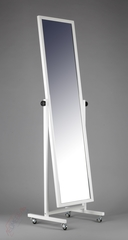 Т-150-40 Зеркало напольное с колесами (белое)