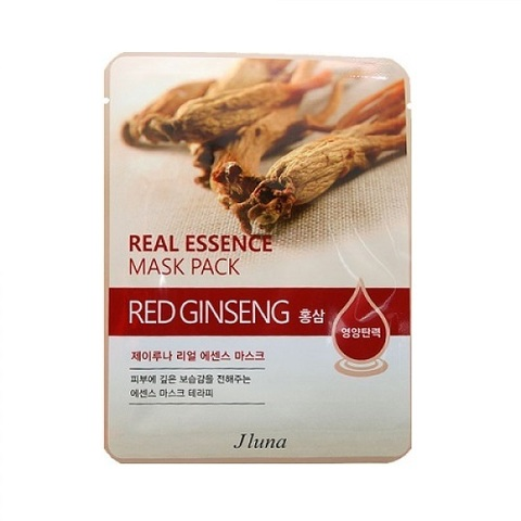 Juno Маска тканевая с красным женьшенем Real Essence Mask Pack Red Ginseng 5шт