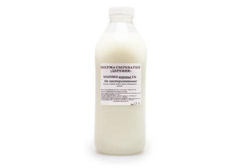 Молоко коровье 1% фермерское, 1л
