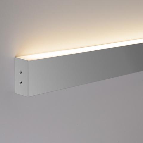 Линейный светодиодный накладной односторонний светильник 53см 10Вт 3000К матовое серебро LS-02-1-53-3000-MS