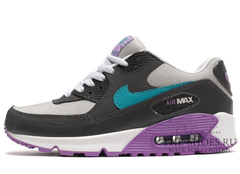 Кроссовки женские Nike Air Max 90 Black Green Violet White