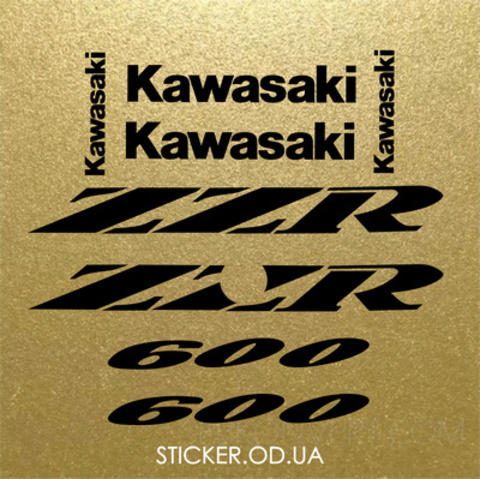Набор виниловых наклеек на мотоцикл Kawasaki ZZR 600 , 1995-2004