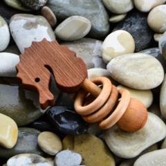 Погремушка-грызунок Леснушки Морской Конек