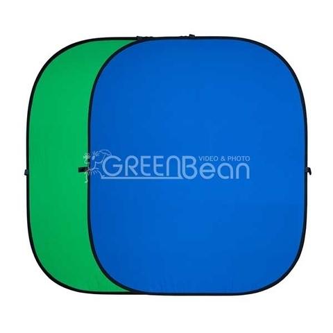 Фон GreenBean Twist тканевый хромакей двухсторонний сине-зеленый на каркасе 180х210 см