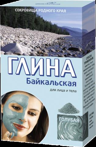 Фитокосметик Сокровища родного края Глина голубая Байкальская 100г