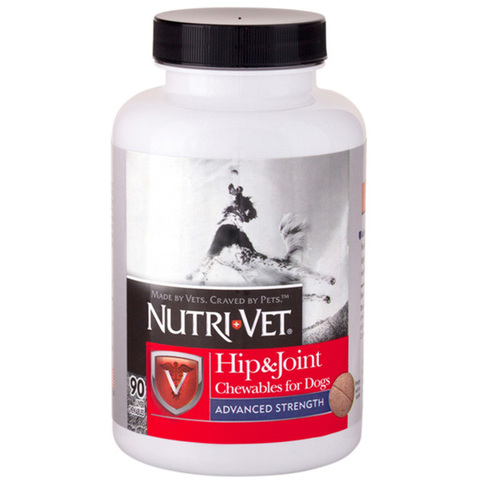 Nutri-Vet Hip&Joint Advanced НУТРИ-ВЕТ СВЯЗКИ И СУСТАВЫ АДВАНСИД, 3 уровень, глюкозамин и хондроитиндля собак, с МСМ,