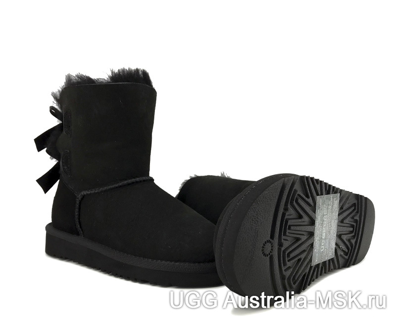 UGG kids bailey bow black