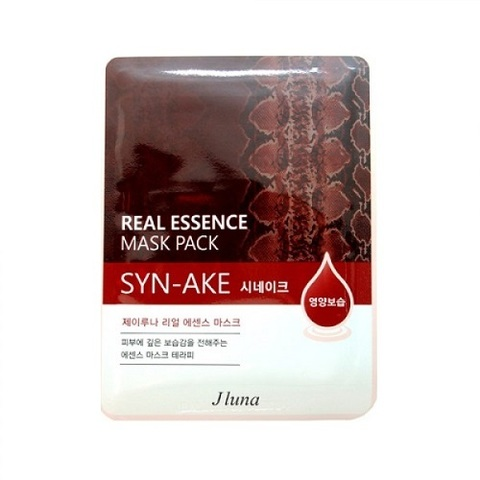 Juno Маска тканевая с змеиным ядом Real Essence Mask Pack Syn-Ake 5шт