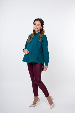 Блузка для беременных 08922 зеленый