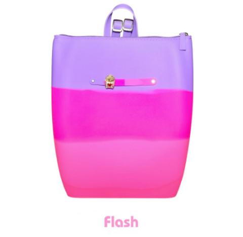 Маленький силиконовый рюкзак на молнии цвет Flash Gummy Bags