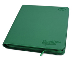 12-Pocket QuadRow Zipfolio XenoSkin Green