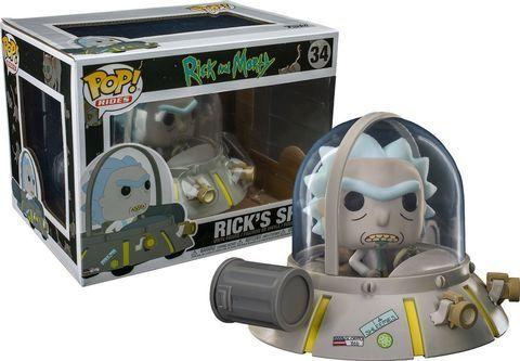 Фигурка Funko POP! Rides: Rick & Morty: Space Cruiser (Exc) (CC)