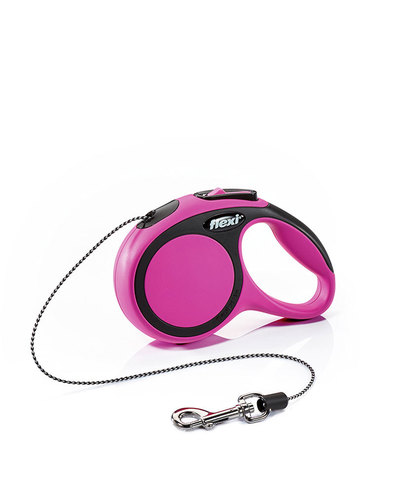 Flexi поводок-рулетка M, трос 5 м на 20 кг (розовый)