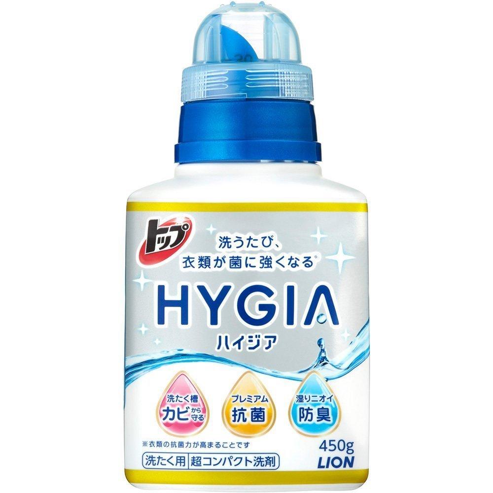Жидкость для стирки белья, Lion, Top HYGIA, концентрат, 450 мл