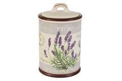 Банка для сыпучих продуктов (чай) Лаванда Anna Lafarg LF Ceramics