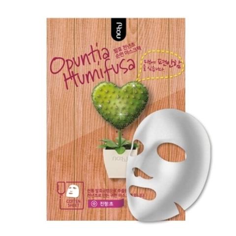Успокаивающая тканевая маска с экстрактом опунции, 28 г / NO:HJ Opuntia Humifusa Mask Pack (Relax)