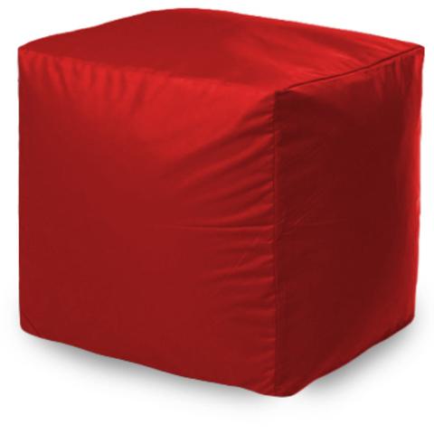 Квадратный пуфик Красный