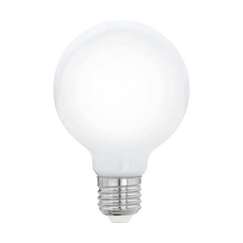 """Лампа  Eglo филаментная диммируемая """"Милки"""" опал. стекло LM LED E27 G80 2700K 11769"""