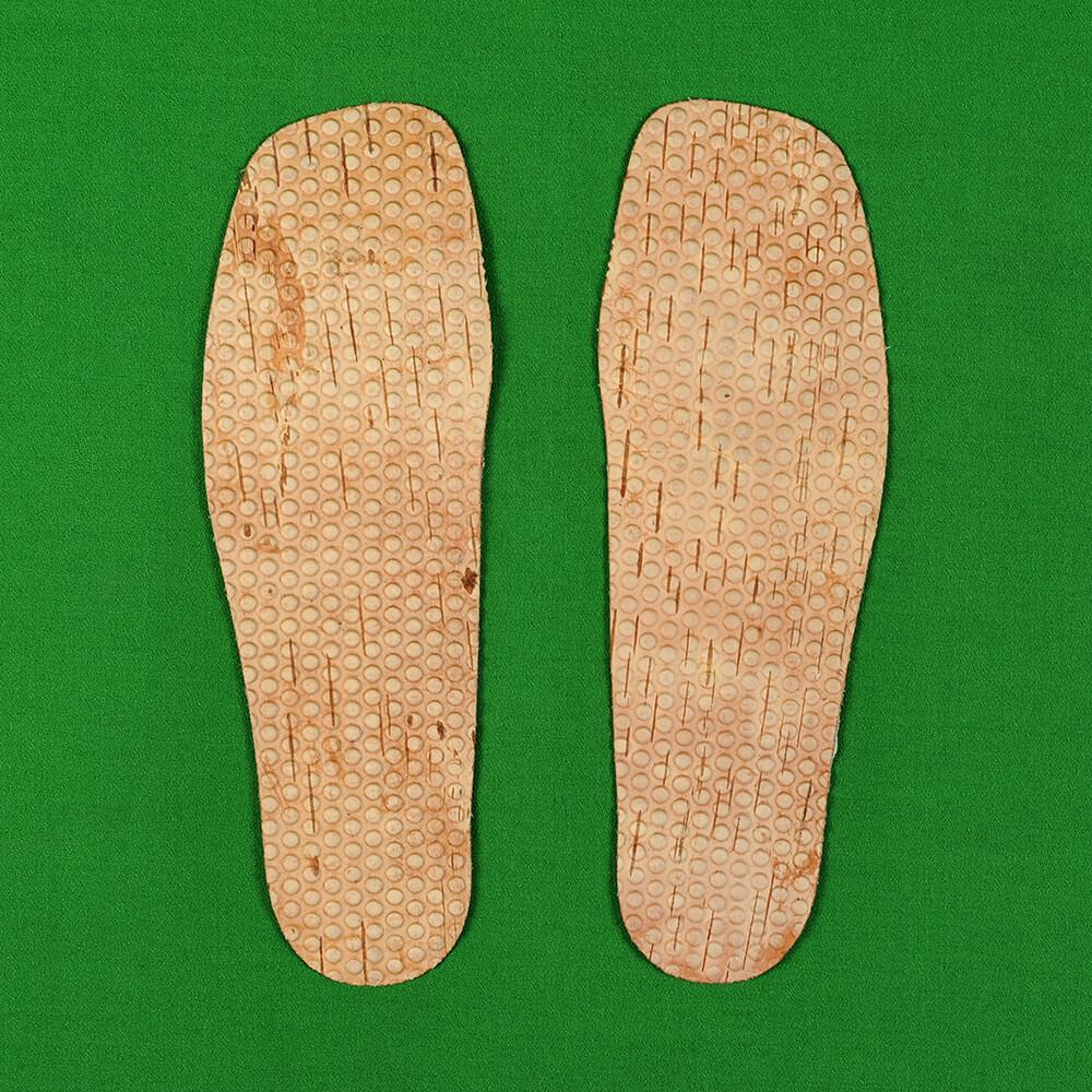 Стельки берестяные, рельефно-тиснёные (крупно рифлёные)