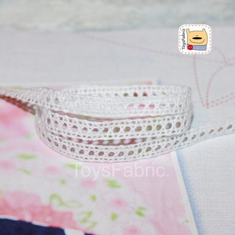 Кружево вязаное СК05-Б (белое) 90см