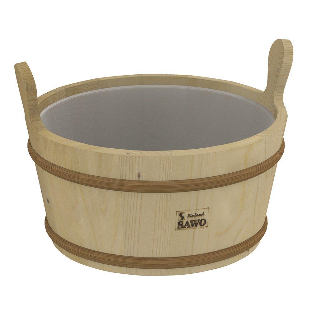 Ведра и кадушки: Кадушка деревянная SAWO 300-TP (9 литров с пластиковой вставкой) ведра и кадушки кадушка деревянная sawo 300 tp 9 литров с пластиковой вставкой