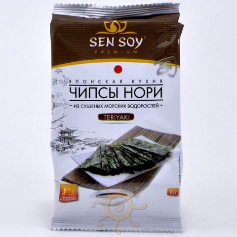 Чипсы нори из морской капусты Teriyaki Sen Soy,  4.5г.