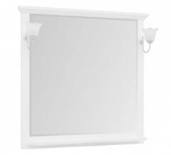 Зеркало Aquanet Лагуна 105 белое матовое