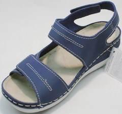 Женские спортивные сандалии на танкетке Inblu CB-1U Blue.