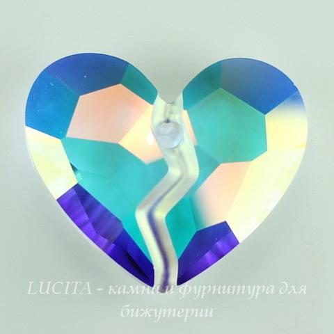 6263 Подвеска Сваровски Forever Heart Crystal AB (36 мм) ()