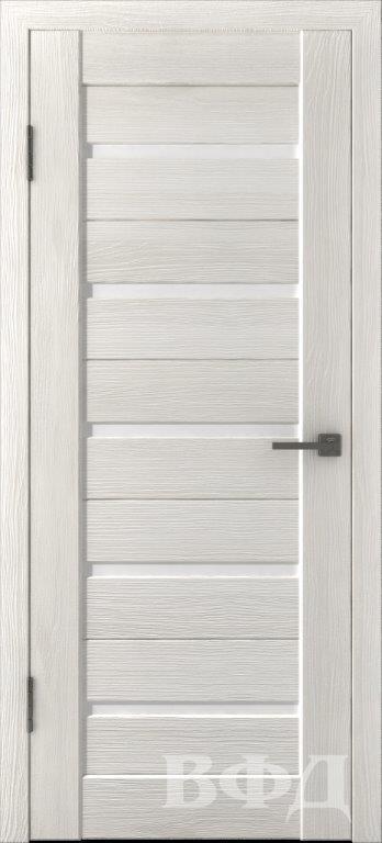 Л1ПГ5 Беленый дуб / белое стекло, Дверь межкомнатная,Владимирская Фабрика Дверей