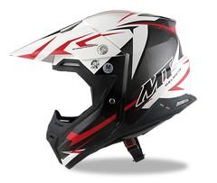 Кроссовый шлем - MT Synchrony Steel, черный/белый/красный